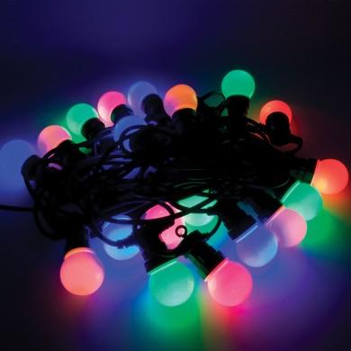 Catena di lampadine serie bianche o colorate da 25w o led for Lampadine led watt