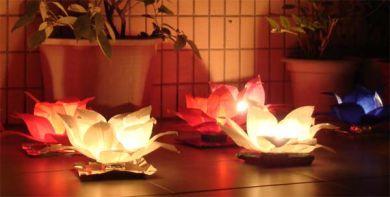 Lanterne Fiori Bianchi