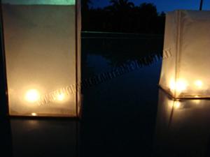 Lanterna Galleggiante Cassettine di Legno Box