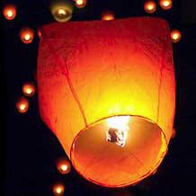 Lanterne Volanti Cinesi Bianche