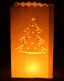 Sacchetti Portacandele Albero di Natale