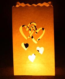 Sacchetti ignifughi lanterne portacandele di carta - Lanterne portacandele ...