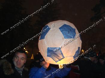 Lanterna Volante Pallone da Calcio Napoli