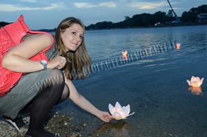 lanterne galleggianti fiore matrimonio nozze sposi